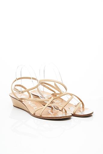 Sandales/Nu pieds beige CHANEL pour femme