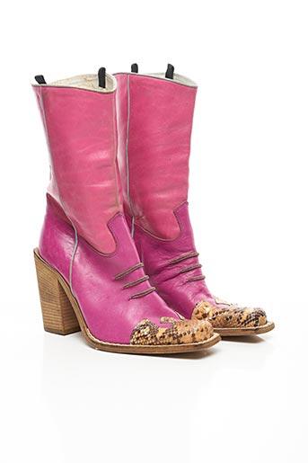 Bottines/Boots rose ALTERNATIVA pour femme