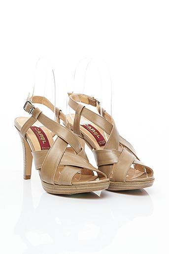 Sandales/Nu pieds beige CAREL PARIS pour femme