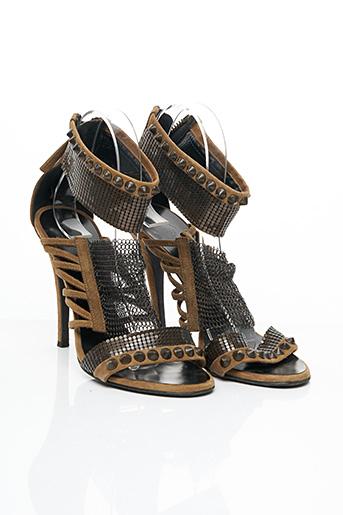 Sandales/Nu pieds marron BALMAIN pour femme