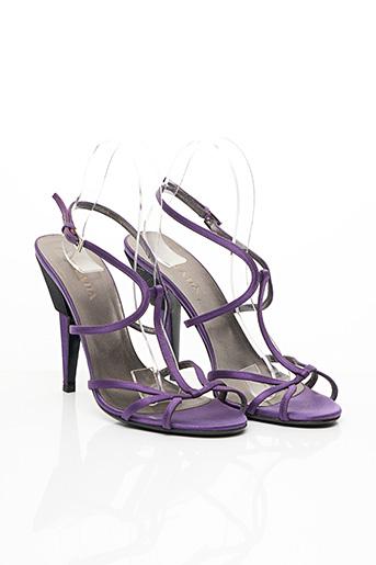 Sandales/Nu pieds violet PRADA pour femme