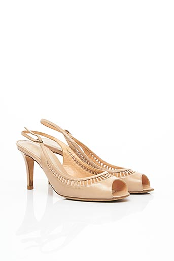 Sandales/Nu pieds beige SERGIO ROSSI pour femme