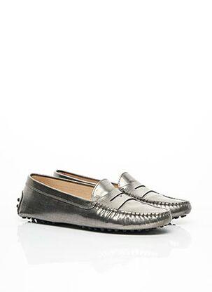 Chaussures bâteau gris TOD'S pour femme