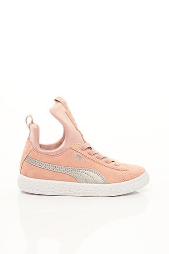Baskets rose PUMA pour fille
