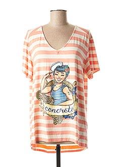 T-shirt manches courtes orange CONCRETO pour femme