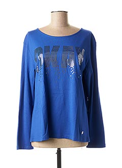 T-shirt manches longues bleu CONCRETO pour femme