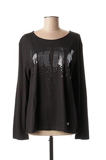 T-shirt manches longues noir CONCRETO pour femme