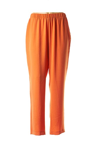 Pantalon casual orange HORTENSIA pour femme