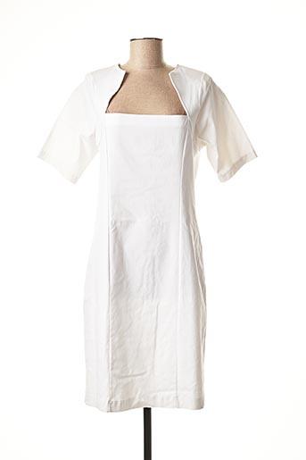 Robe mi-longue blanc EDMOND BOUBLIL pour femme
