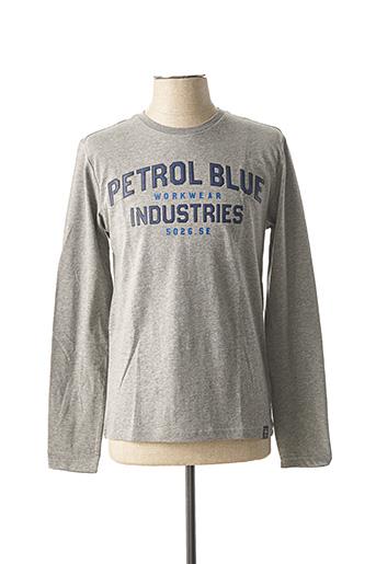 T-shirt manches longues gris PETROL INDUSTRIES pour homme