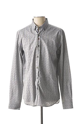Chemise manches longues gris DARIO BELTRAN pour homme