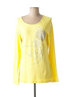 T-shirt manches longues jaune JENSEN pour femme