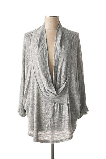T-shirt manches longues gris CARMEN pour femme