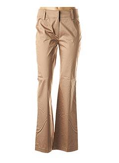Pantalon chic beige BUGARRI pour femme