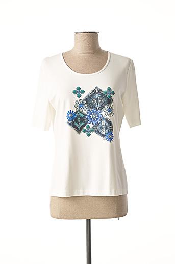 T-shirt manches courtes bleu EUGEN KLEIN pour femme