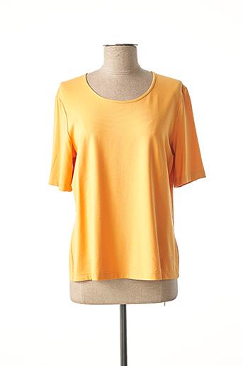 T-shirt manches courtes orange EUGEN KLEIN pour femme