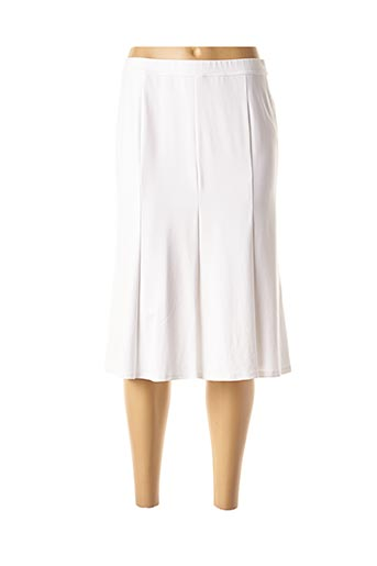 Jupe mi-longue blanc EUGEN KLEIN pour femme