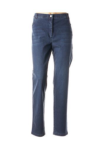 Pantalon casual bleu EUGEN KLEIN pour femme