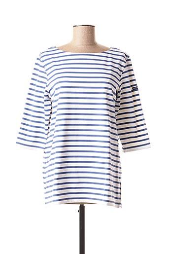 T-shirt manches longues bleu SAINT JAMES pour femme
