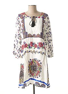 Robe courte blanc DESIGUAL pour femme