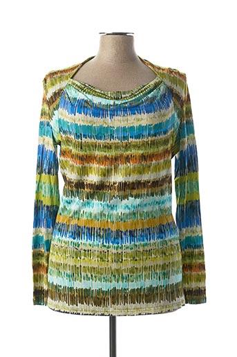 T-shirt manches longues vert CAROLINE BISS pour femme