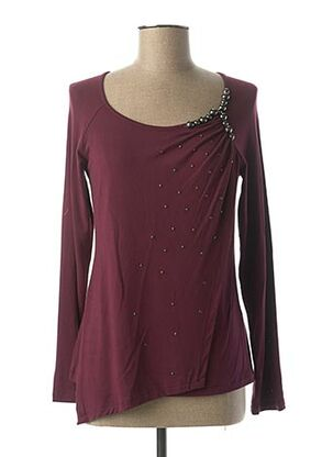 T-shirt manches longues violet ABY GARDNER pour femme