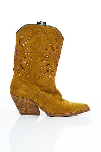 Bottines/Boots jaune ELENA LACHI pour femme