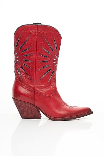 Bottines/Boots rouge ELENA LACHI pour femme