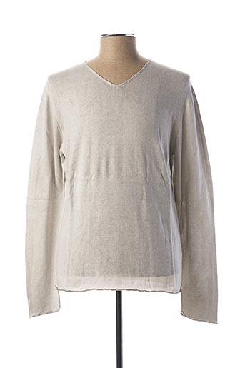 Pull col V gris CHICAMA pour homme