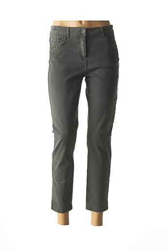 Pantalon 7/8 vert CECIL pour femme