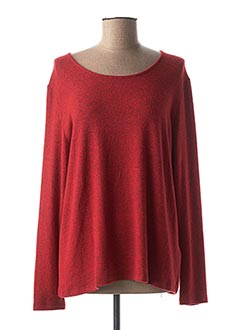 Pull col rond rouge COLINE pour femme