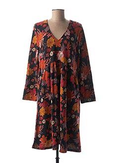 Robe mi-longue orange PALME pour femme