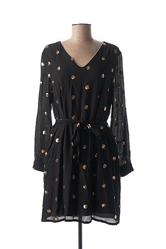 Robe mi-longue noir BY ONE pour femme