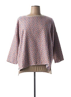 Pull col rond rose MADE IN SENS pour femme