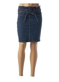 Jupe courte bleu BERNOVA pour femme