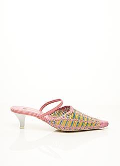 Mules/Sabots rose F.MODE pour femme
