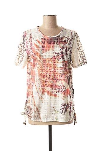 T-shirt manches courtes orange CAPUCCINO pour femme