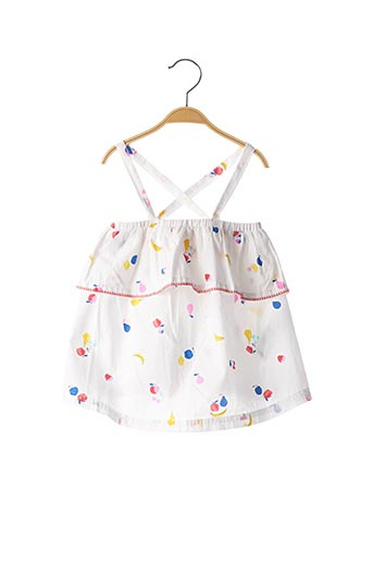 Robe mi-longue blanc JOULES pour fille