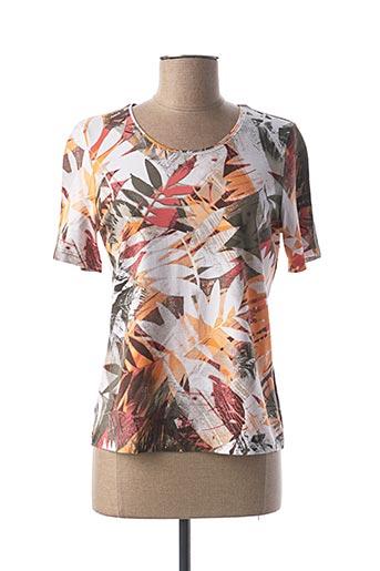 T-shirt manches courtes orange LEBEK pour femme