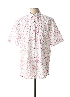 Chemise manches courtes rouge CAP 10 TEN pour homme