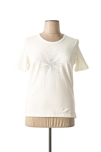 T-shirt manches courtes beige LEBEK pour femme