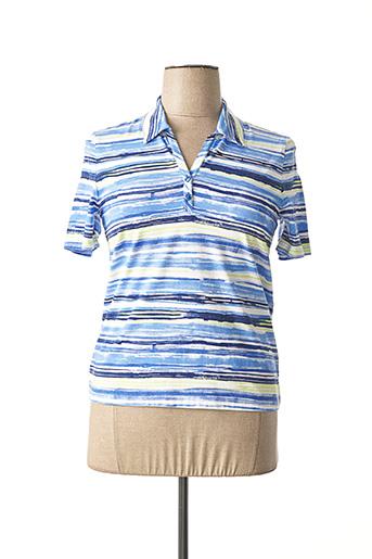 Polo manches courtes bleu LEBEK pour femme