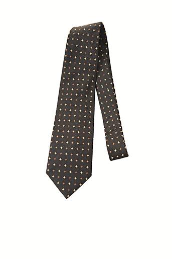 Cravate marron JEAN-LOUIS SCHERRER pour homme