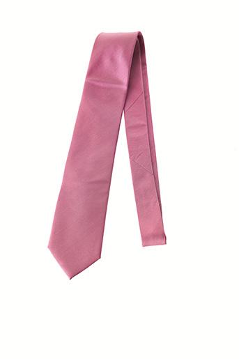 Cravate rose MAC-TY pour homme