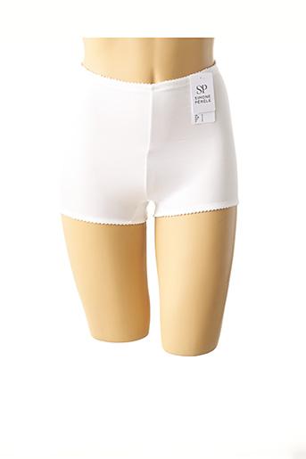 Shorty/Boxer blanc SIMONE PERELE pour femme