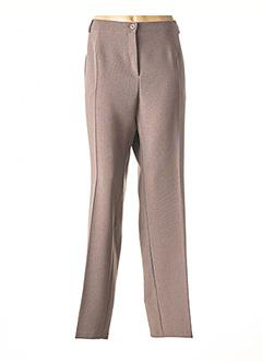 Pantalon chic marron TELMAIL pour femme
