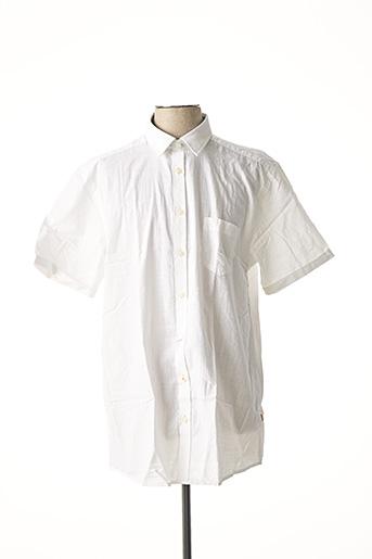 Chemise manches courtes blanc CALAMAR pour homme