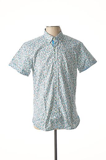 Chemise manches courtes bleu DARIO BELTRAN pour homme