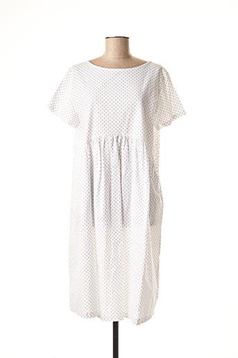 Robe mi-longue blanc WENDY TRENDY pour femme