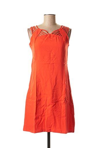 Tunique sans manche orange L33 pour femme
